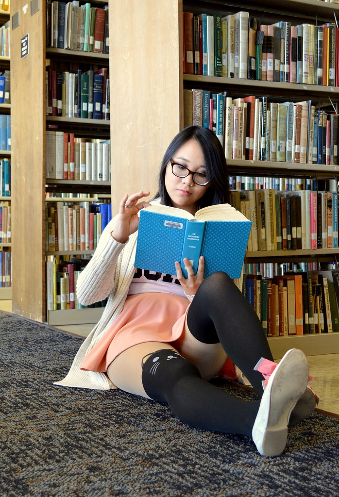 Flashing In The Library