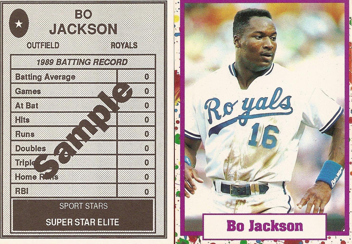 1990 Sports Stars Superstar Elite Easter Egg Border Sample
