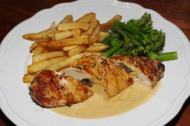 Chicken Stuffed With Savory Duxelles Recipe — Dishmaps
