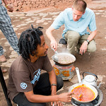 Learning to Cook Ethiopian Food at Lalibela Lodge in Lalibela, Ethiopia