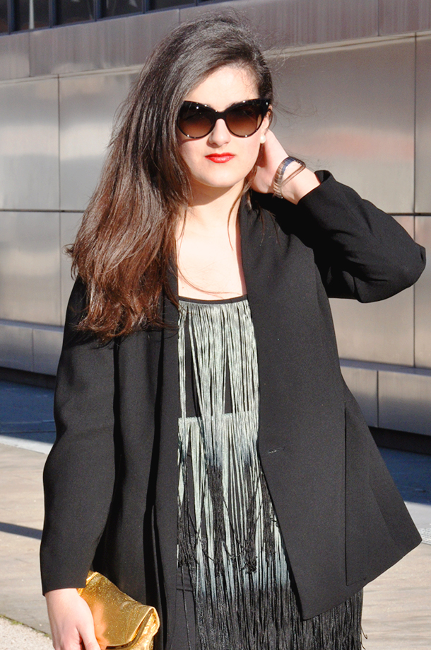 torres kio kyo en madrid architecture, outfit fringe zara dress fashion blogger somethingfashion valencia spain, dior mohotani sunglasses, vintage, hoy no me puedo levantar musical, elegant party outfit