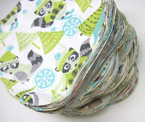 Neutral Prints Single Ply Flannel Baby Wipes