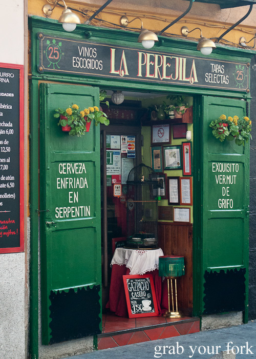 La Perejila tapas bar on Cava Baja in Madrid, Spain