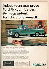 1966 Ford Pickup Truck Advertisement Readers Digest August 1966