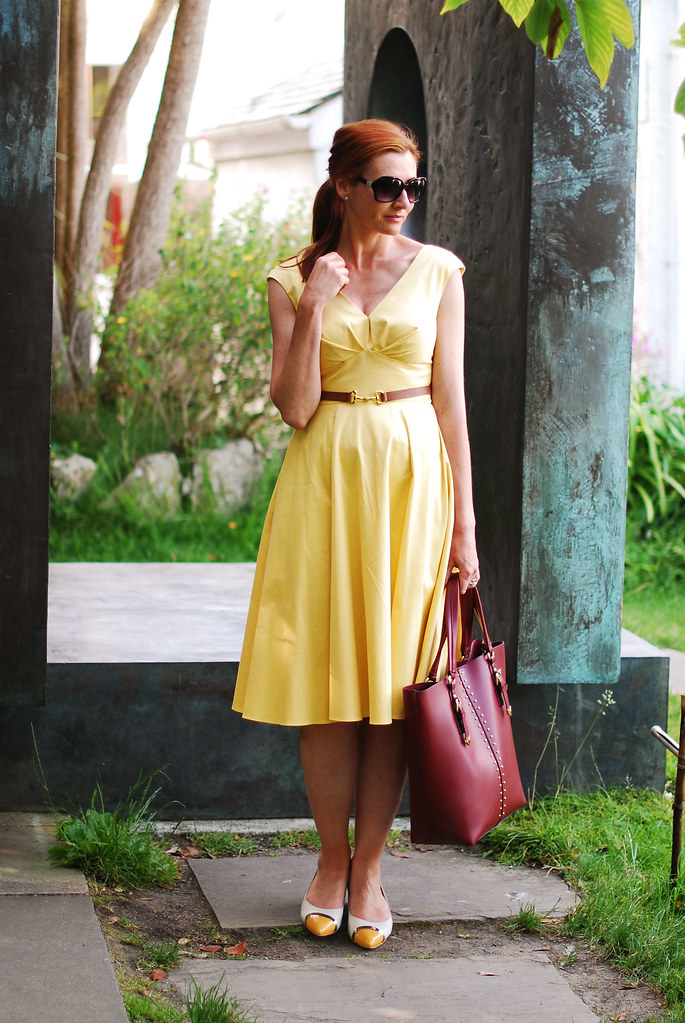 Summer heat grace kelly vintage style yellow dress not dressed as lamb Grace fashion style chicago