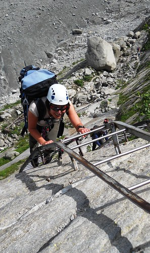 Coming back up the Mer de Glace Ladders