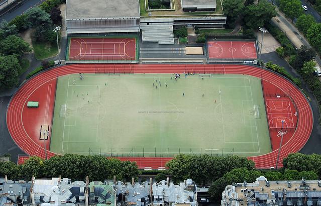 Allez Les Bleus. Paris Outdoor Sports Complex.