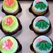 Hula cupcake toppers - <span>©CupCakeBite www.cupcakebite.com</span>