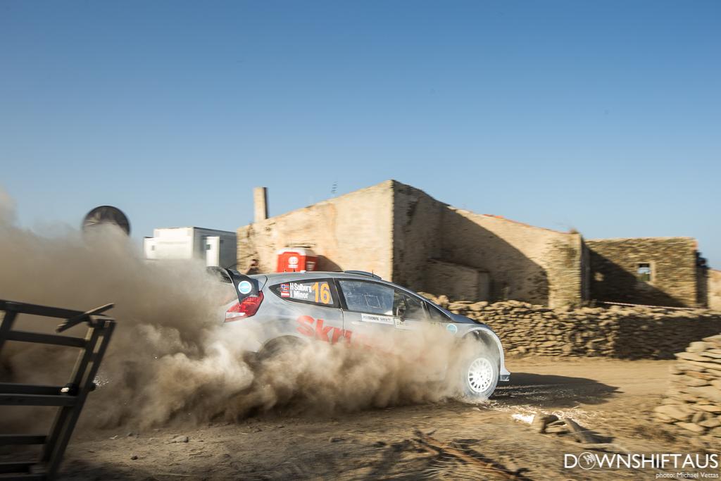 WRC competitors compete in Heat 3 of Rally d'Italia Sardegna.