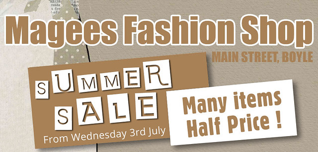 Magees Fashions Summer Sale