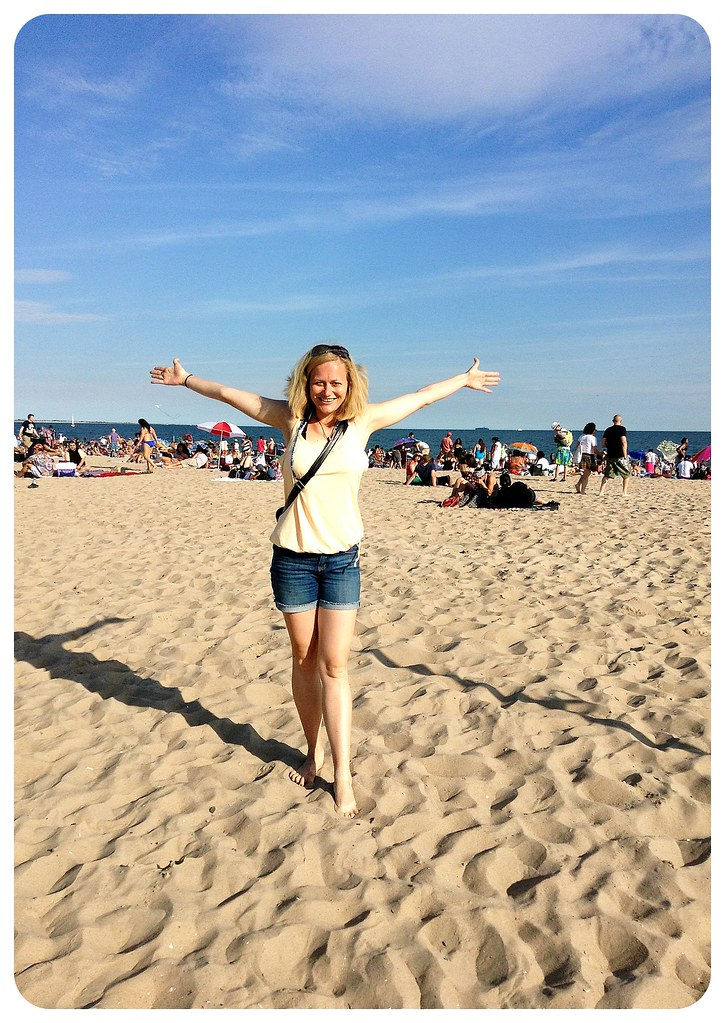 dani at the beach