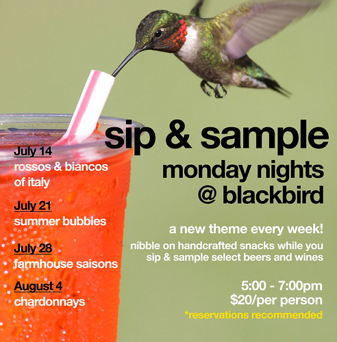monday night sip & sample