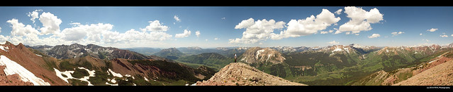 Panoramic view from Avery Peak (3,854 m)
