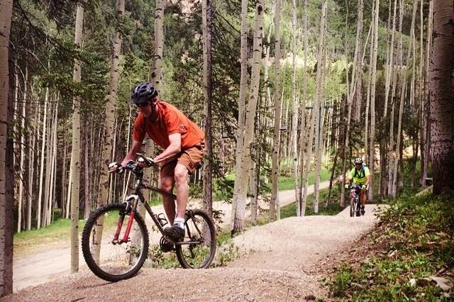 Mountain biking at Taos