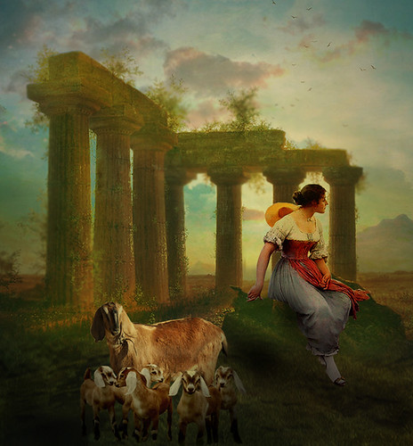 The shepherd in the ruins