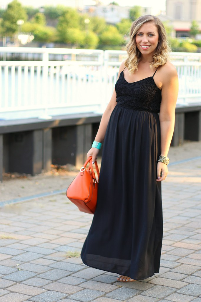 Black Crochet Maxi Dress | Turquoise Cuff #Giveaway | Outfit | #LivingAfterMidnite