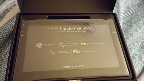 I can't wait to start playing with my new ASUS Transformer Book