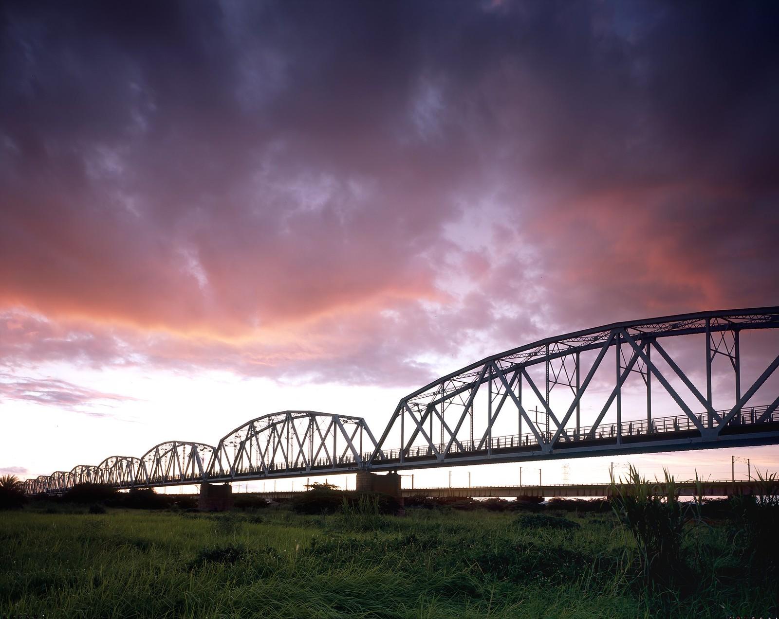 高雄舊鐵橋溼地 (底片)