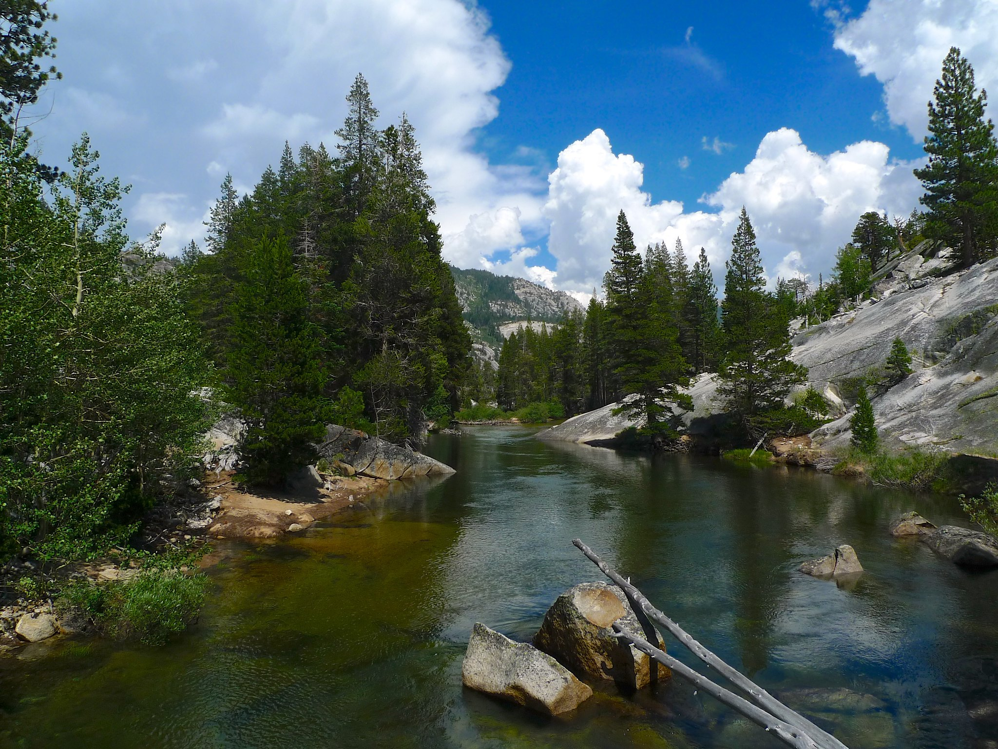 Following the Merced River down towards Little Yosemite Valley