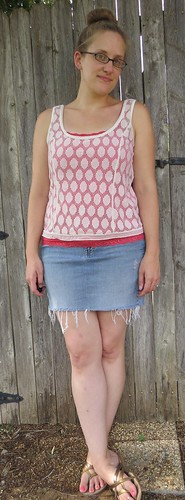 Polka Dot Lace Tank - After