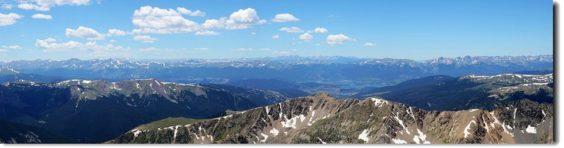 View to the Southwest & West from Grays Peak's summit