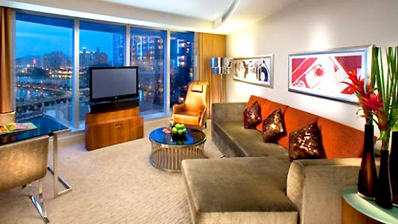 Hard Rock Hotel Corner Suite living area