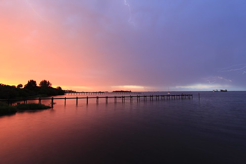 sunset sky storm weather project cloudy sunsets lightning planetearth indianriver kmprestonphotography projectweather