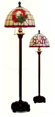 Ohio State University Buckeyes Stained Glass Floor Lamp