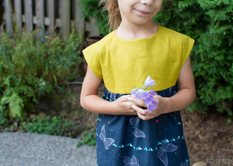 chartreuse and butterfly playtime dress