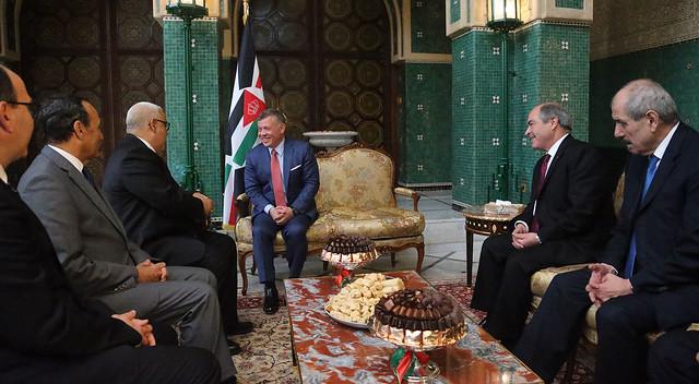 جلالة الملك عبدالله الثاني يلتقي رئيس الوزراء المغربي المكلف ورئيسا مجلسي النواب والمستشارين