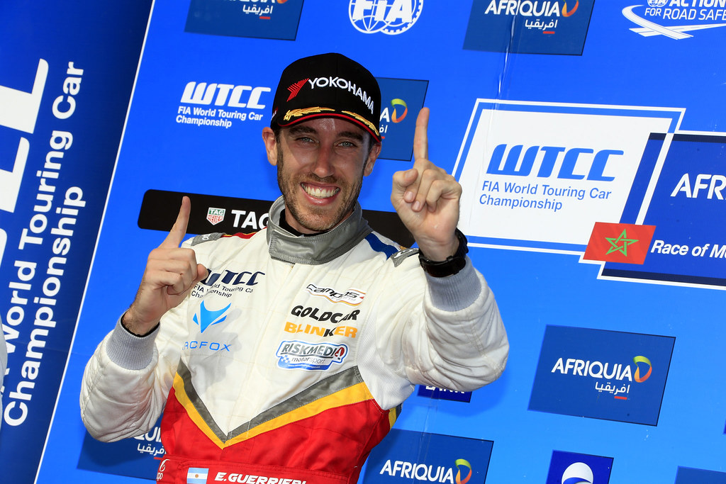 podium race 1 GUERRIERI Esteban (ARG) Chevrolet RML Cruze TC1 Campos Racing during the 2017 FIA WTCC World Touring Car Race of Morocco at Marrakech, from April 7 to 9 - Photo Paulo Maria / DPPI