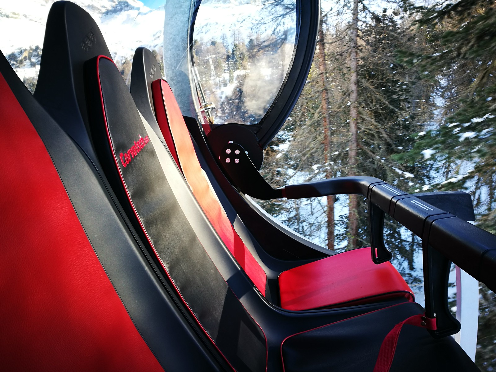 Leather backed chairlift