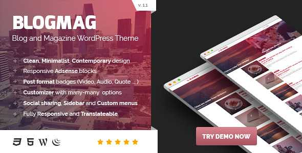 BlogMag WordPress Theme free download