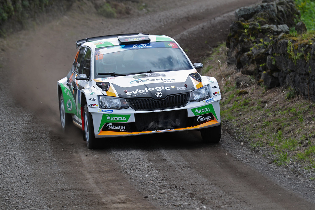18 VON THURN Albert DEGANDT Bjorn Skoda Fabia R5 Action during the 2017 European Rally Championship ERC Azores rally,  from March 30  to April 1, at Ponta Delgada Portugal - Photo Gregory Lenormand / DPPI