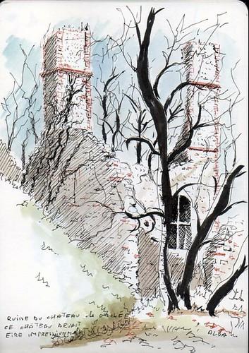 Viriville - Ruine du château de Grolée du XII° siècle
