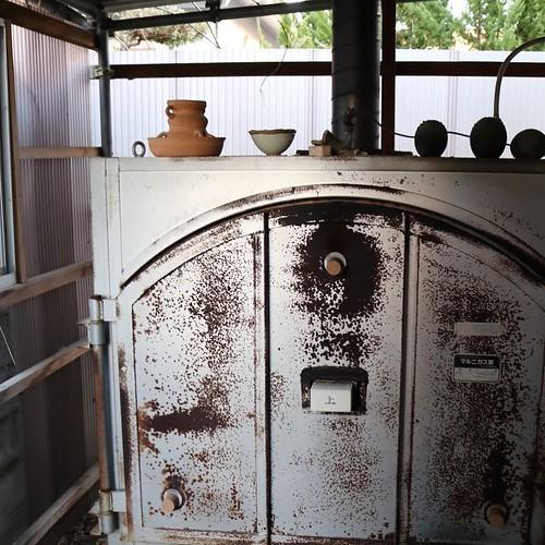 陶芸窯。かっこいい。 #赤磐市