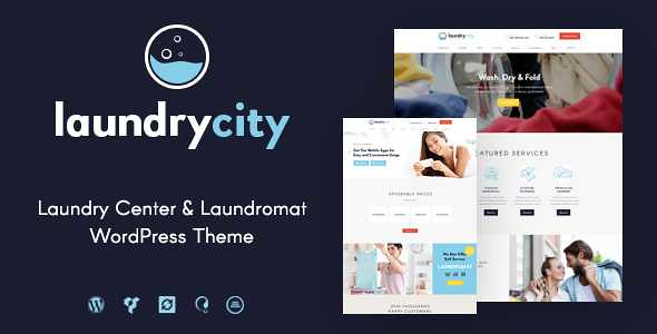 Laundry City WordPress Theme free download
