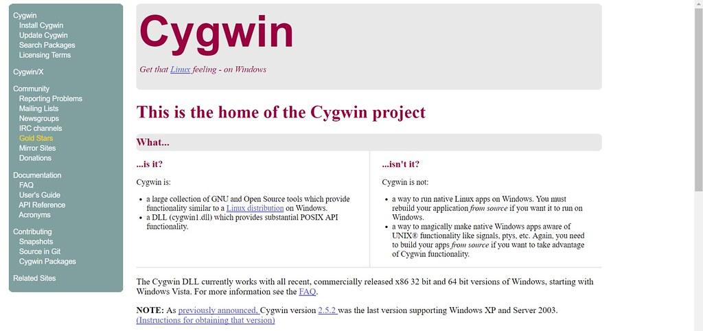cygwin-homepage