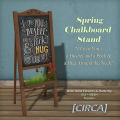 Spring Chalkboard Stand - I Love You