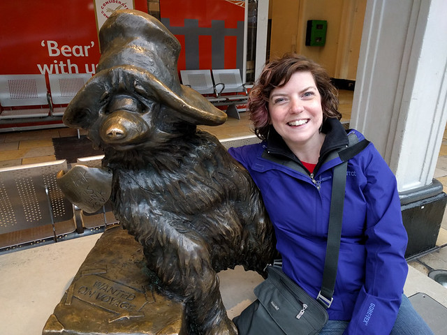 me with Paddington Bear!
