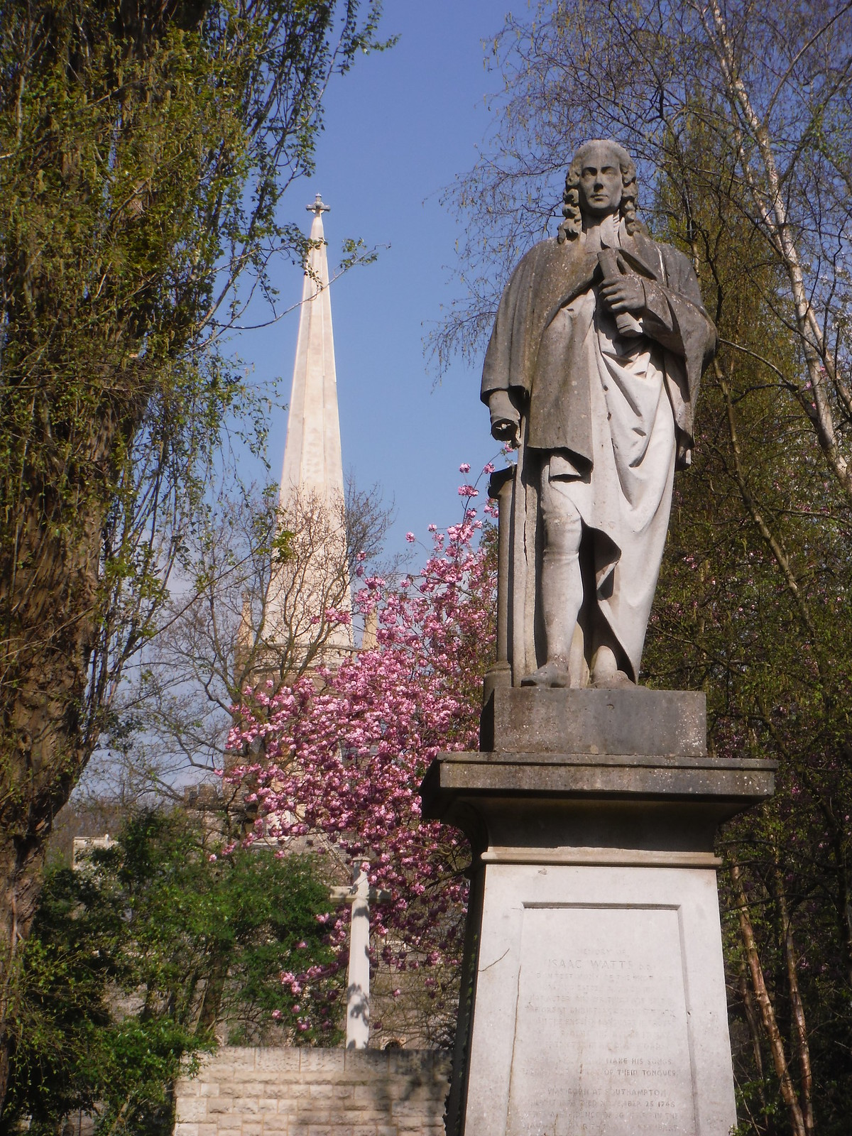 Dr Isaac Watts Monument and Chapel Spire, Abney Park Cemetery SWC Short Walk 26 - Woodberry Wetlands (Stoke Newington Reservoirs)