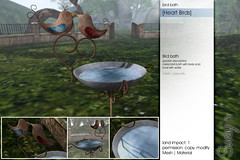 Sway's [Heart Birds] bird bath | for FLF