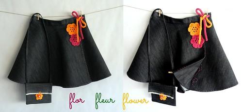 falditas jeans flores