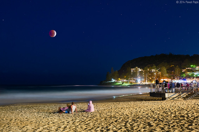Lunar Eclipse over Burleigh Heads