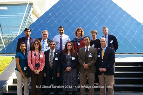 Global Scholars Program participants at the INFOSYS campus in Bangalore, India. Photo courtesy of Rod Uphoff.
