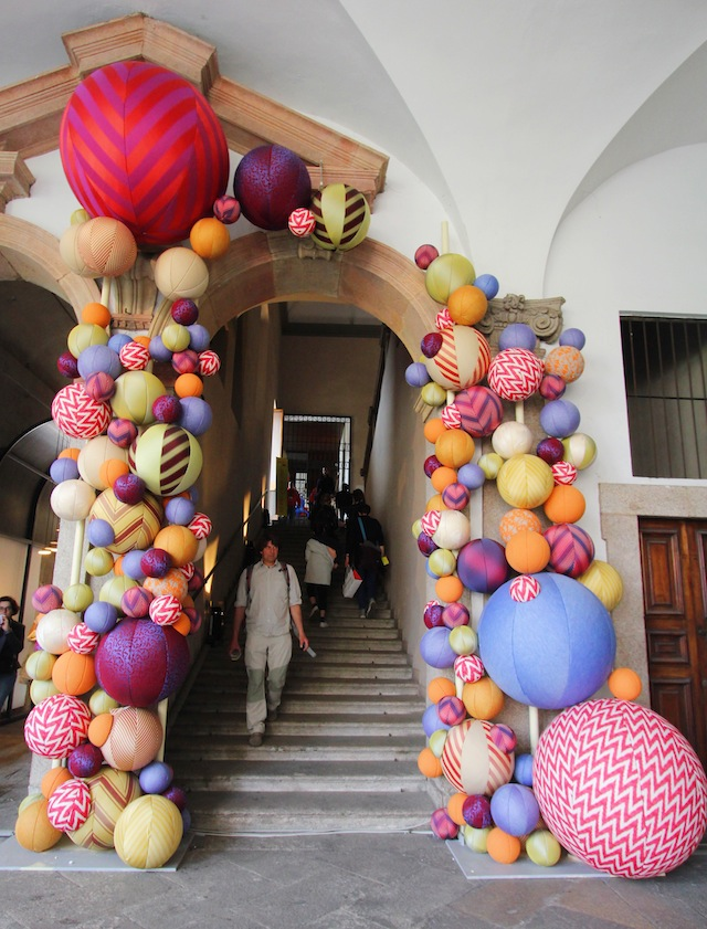 Milan Salone del Mobile 2014 giant textile balls