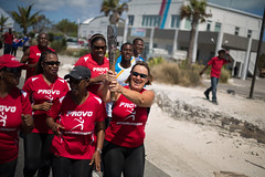 Provo Roadrunners relay the Queen's Baton, in Grace Bay, Turks and Caicos Islands, Wednesday 16 April 2014. Turks and Caicos Islands is nation 56 of 70 nations and territories the Queen's Baton will visit....