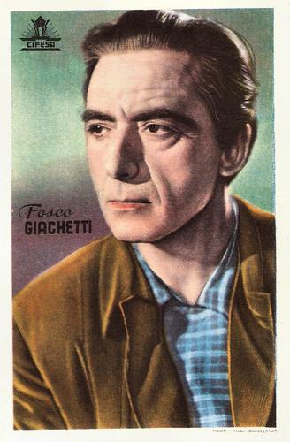 Fosco Giachetti European Film Star Postcards Fosco Giachetti