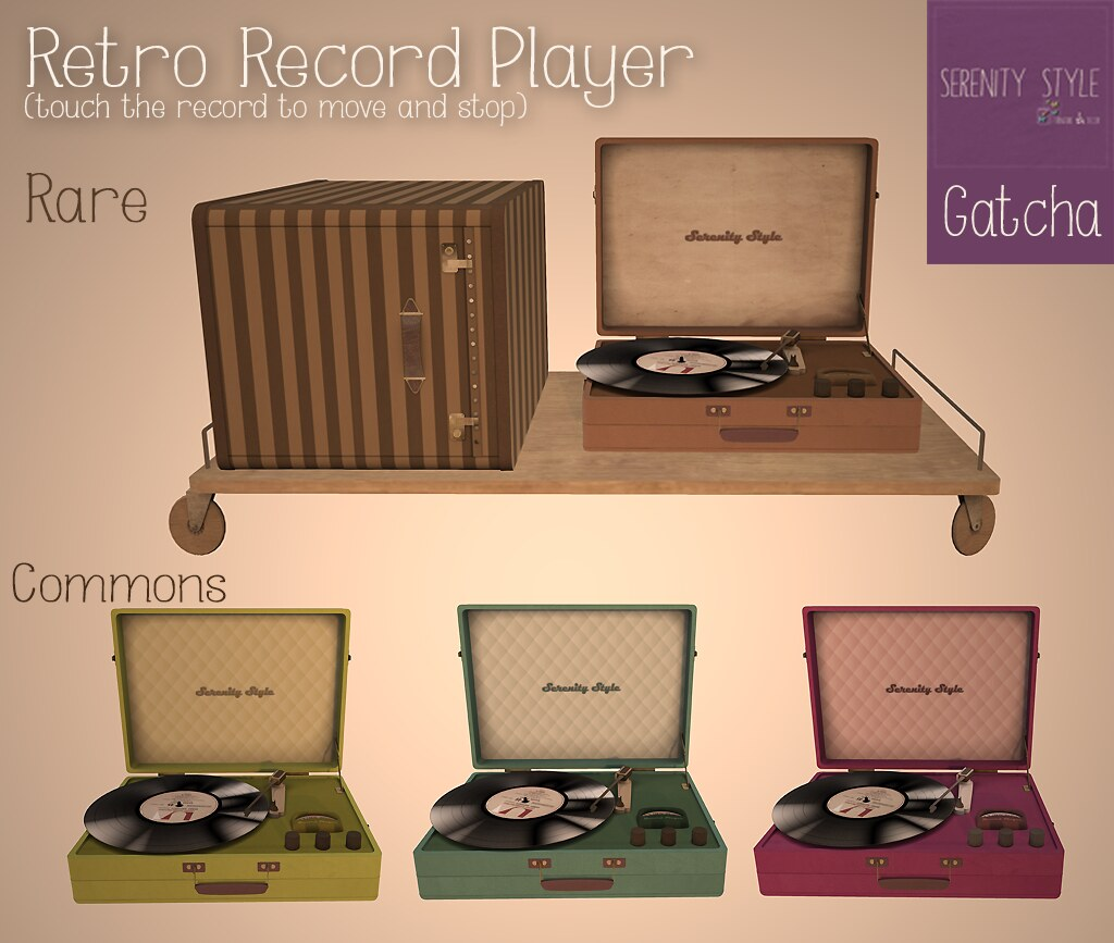Gatcha- Retro Record Player