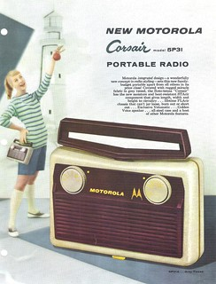 MOTOROLA Portable Radio Dealer Sheet Model Corsair 5P31 (USA 1957)_1